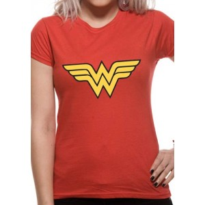 WONDER WOMAN LOGO LADIES RED L