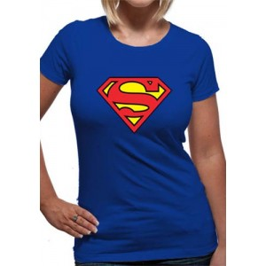 SUPERMAN LOGO LADIES ROYAL BLUE L