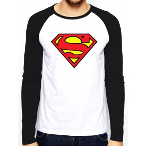 SUPERMAN LOGO BASEBALL SHIRT L