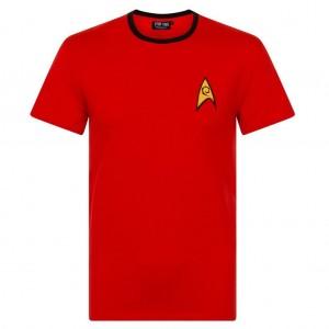 STAR TREK T-SHIRT RED: XL