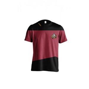 STAR TREK T-SHIRT UNIFORM RED: L