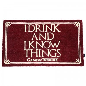 GAME OF THRONES I DRINK AND I KNOW THINGS DOORMAT