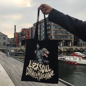 LEXSOUL DANCEMACHINE LOGO TOTE BAG