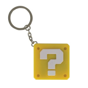 SUPER MARIO QUESTION BLOCK KEYRING WITH LIGHT