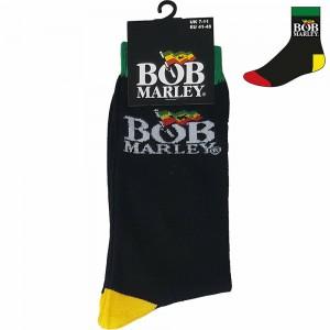 BOB MARLEY LOGO BLACK SOCK (SIZE 40-45)