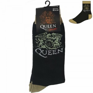 QUEEN - CREST BLACK SOCK (SIZE 40-45)