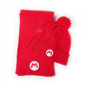 SUPER MARIO BEANIE AND SCARF