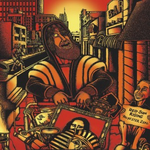 RED SUN RISING-POLYESTER ZEAL